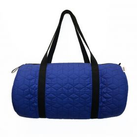 Duffle Bag Quilted Blue