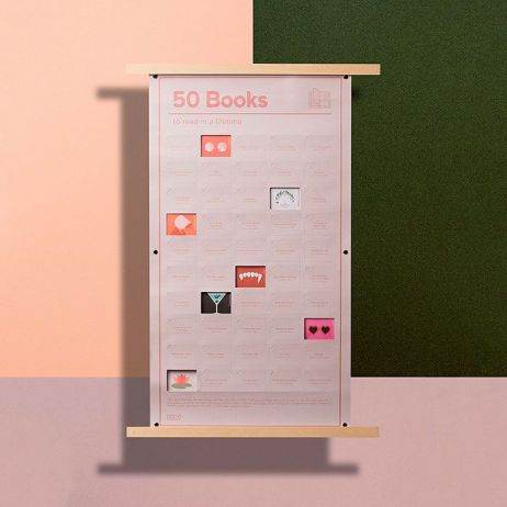 Poster 50 Books