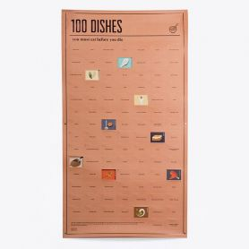 Poster 100 dishes