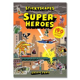 Stickyscapes Superheroes