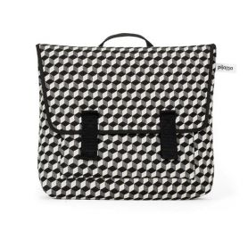 Satchel Bag Black and White