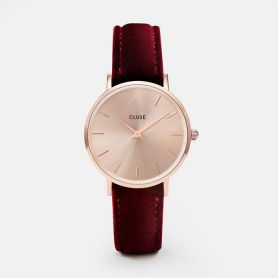 Orologio - Minuit rose gold red velvet
