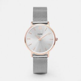 Orologio - Minuit mesh rose gold silver